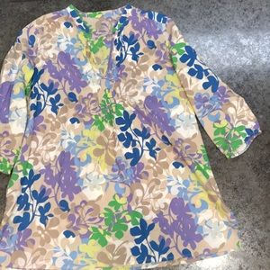 Old Navy 3/4 Length Sleeve Cotton Tunic